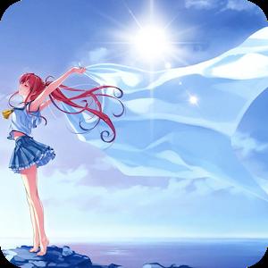 cartoon girl livewallpaper icon
