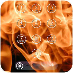 Fire Keypad Screen Lock Theme icon