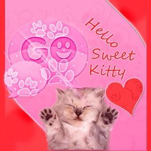 GO SMS Pink Theme Kitty icon