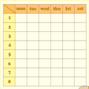 simple timetable2 icon