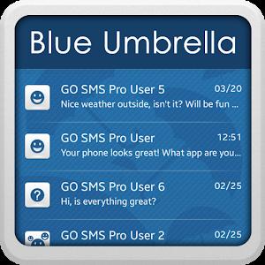 Blue Umbrella for GO SMS icon