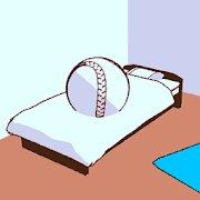 Escape game of baseball boy icon