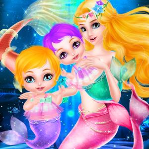 Mermaid Newborn Twins Care icon