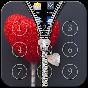 Heart Passcode Zipper Lock icon