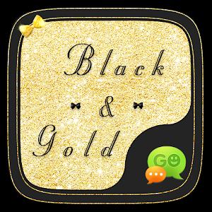 (FREE) GO SMS GOLD&BLACK THEME icon