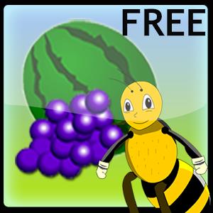 Bee preschool Fruits Free icon