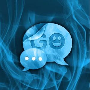 Blue Smoke Theme GO SMS PRO icon