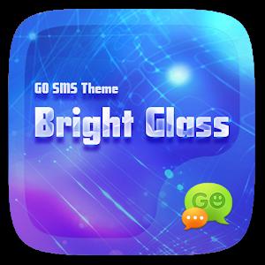 FREE-GO SMS BRIGHT GLASS THEME icon