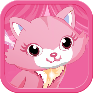 Pink Kitten DressUp- Cat icon