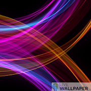 AMOLED live wallpaper - neon waves icon