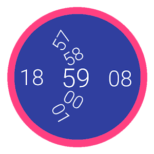 Digital Round Watch Face icon