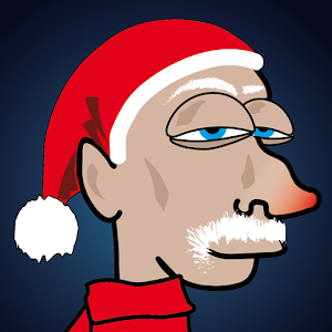 Lazy Santa Claus icon