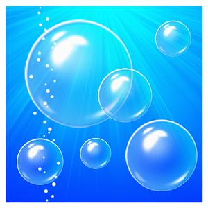 Bubbles & clock live wallpaper icon