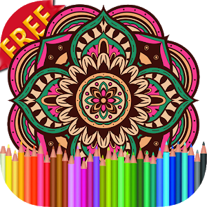 Adult Coloring Book Mandala icon