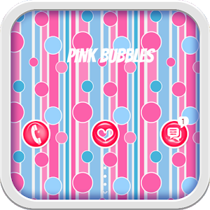 Pink Bubbles for GO Locker icon