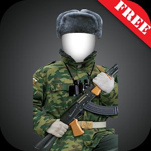 Modern soldier-RU photomontage icon