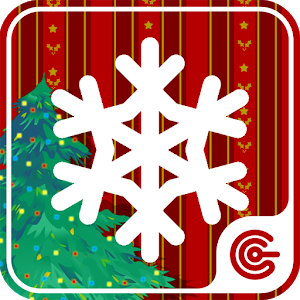 Happy Snowflake Christmas fun icon
