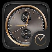 Luxurious Gold GO Clock Theme icon