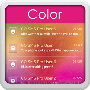 Color for GO SMS icon