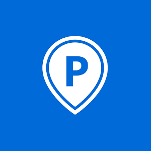 Parking with parking app ParkU icon