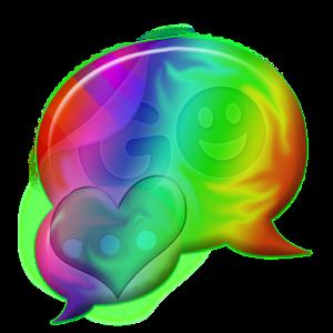 Rainbow Hearts Theme GO SMS icon