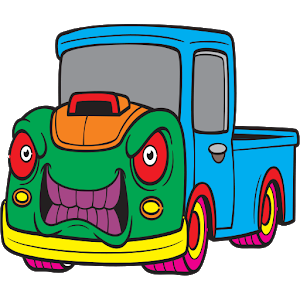 Car coloring book icon