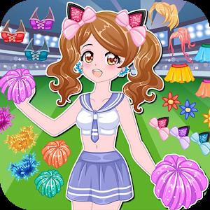 Cheerleader dress up game icon