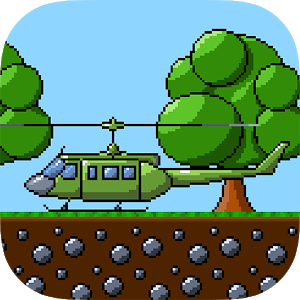 RETRY Helicopter Classic 8 bit icon