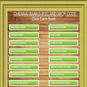 Chennai Banks IFSC Codes List icon
