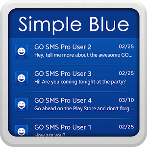 Simple Blue Theme for SMS icon