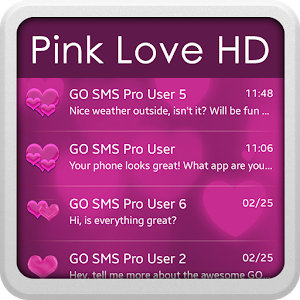 Pink Love HD for GO SMS icon