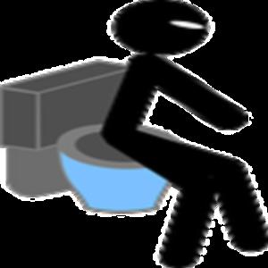 Toilet flush icon