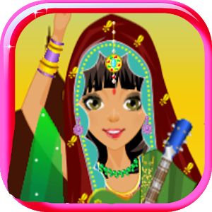 indian fashion dress up game icon