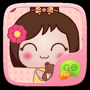 (FREE) GO SMS KOKESHI STICKER icon