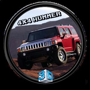 Hill climb hummer 4x4 3D icon