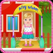 Kindergarten baby care games icon