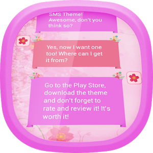 Pink Flower SMS icon