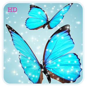 Cool Blue Butterfly HD Live WP icon