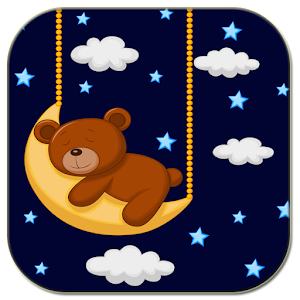Sleeping teddy bear icon