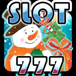 777 Christmas slot machine icon