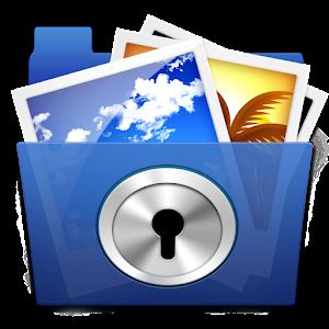 Photo lock, album manage icon