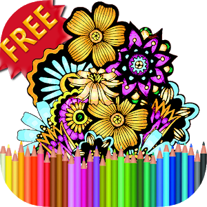Adult Coloring Book Flowers icon