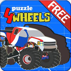 Kids Puzzle - 4 Wheels icon