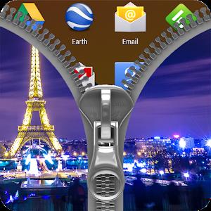 Paris Zipper Lock Screen icon