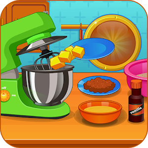 Cooking chocolate cookie icon