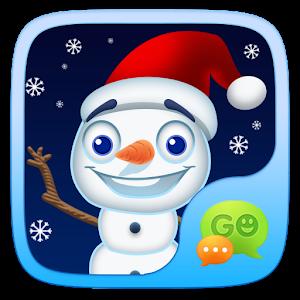 (FREE) GO SMS SNOWMAN STICKER icon