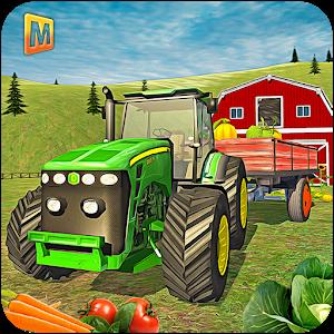 Hill Farm Truck Tractor 3D icon