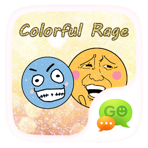 (FREE)GOSMS COLOR RAGE STICKER icon