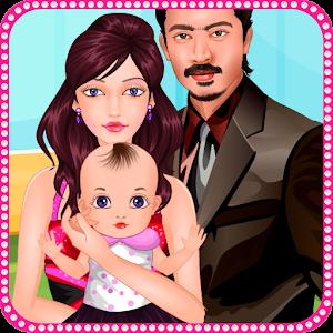 Newborn baby care icon