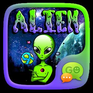 (FREE) GO SMS ALIEN STICKER icon